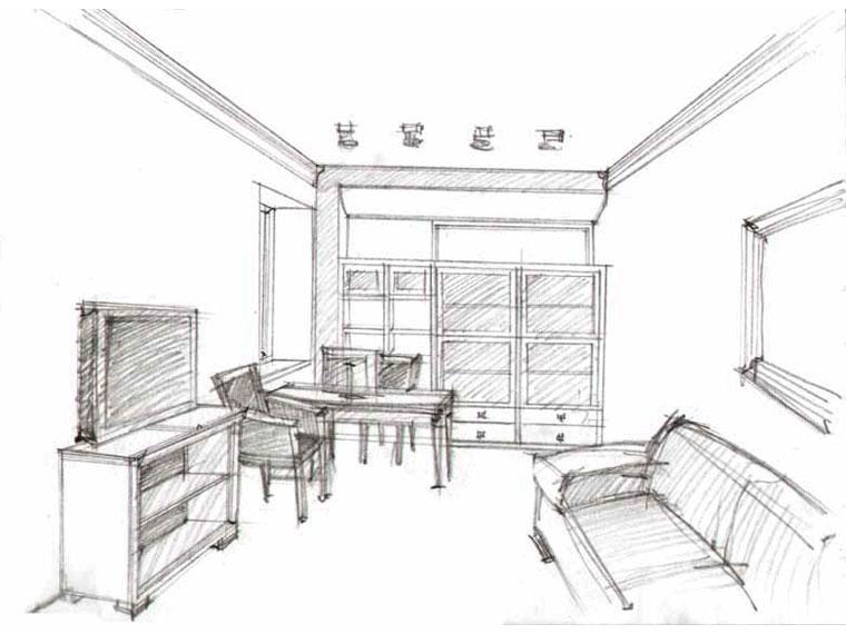 Как нарисовать комнату карандашом поэтапно в комнате