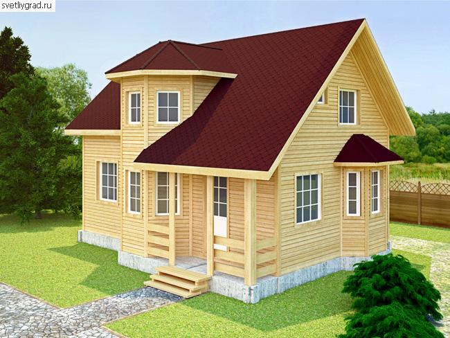 В деревянном доме всегда свежий и чистый воздух. А если его построили