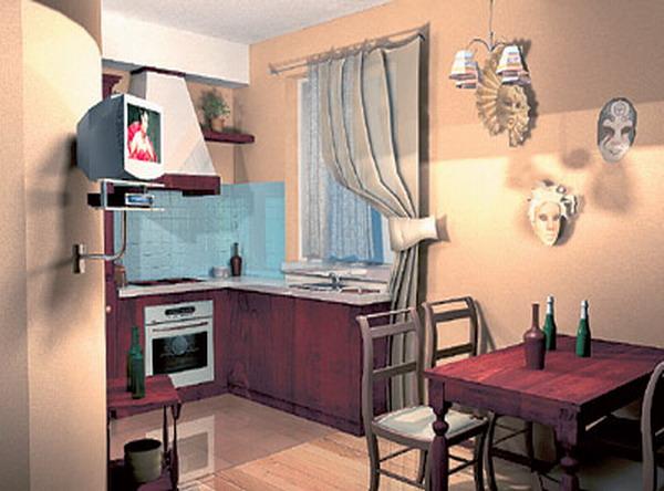 Интерьер квартиры в венецианском стиле