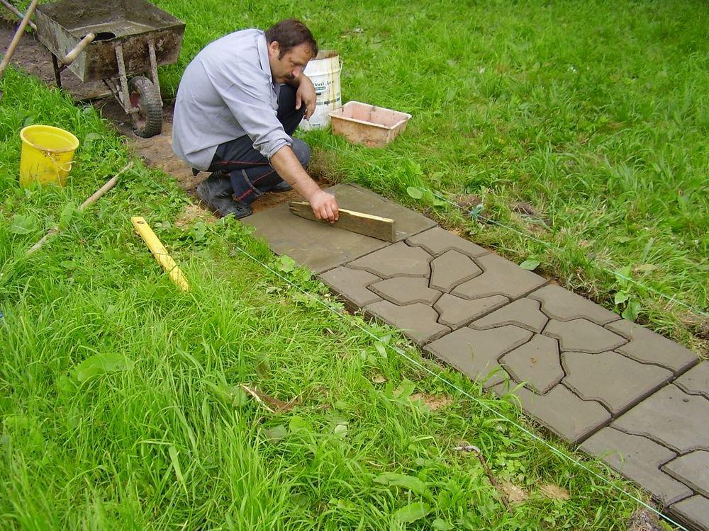 Как красиво уложить тротуарную плитку