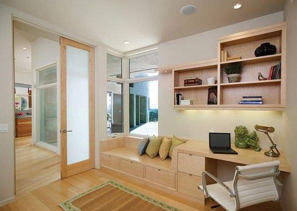 Фото спальня и кабинет современный дизайн