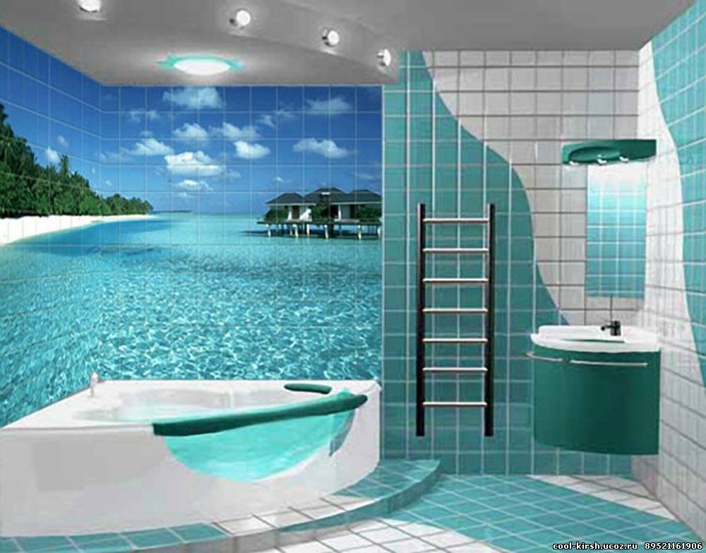 3д дизайны ванных комнат