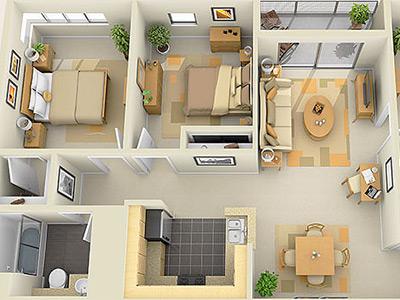 Интерьер дома с планировкой