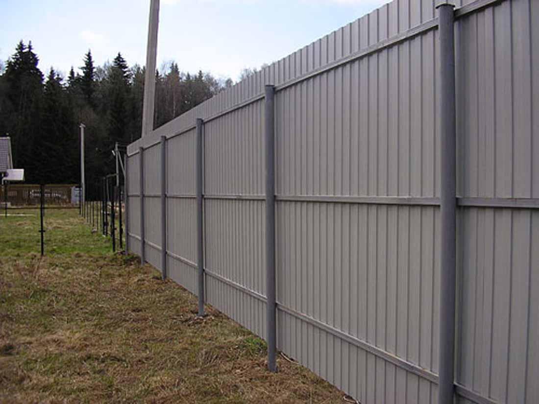 Забор профнастила своими руками фото
