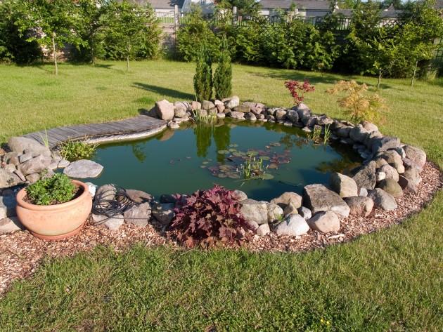 Фото водоемов на дачах - Декоративный пруд на даче: фото, как сделать