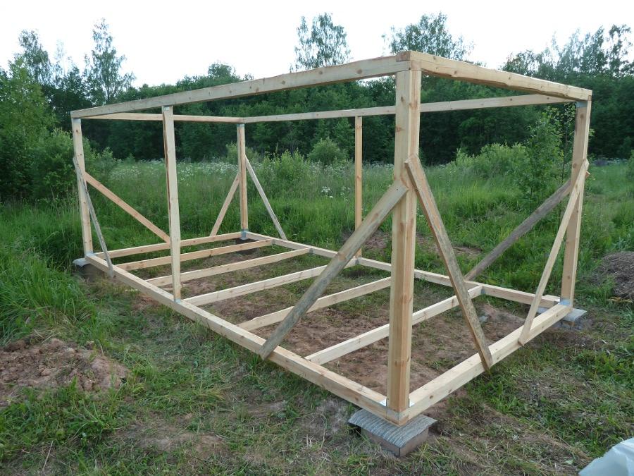 Построить сарай на даче своими руками фото