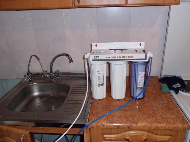 Установка фильтров аквафор своими руками