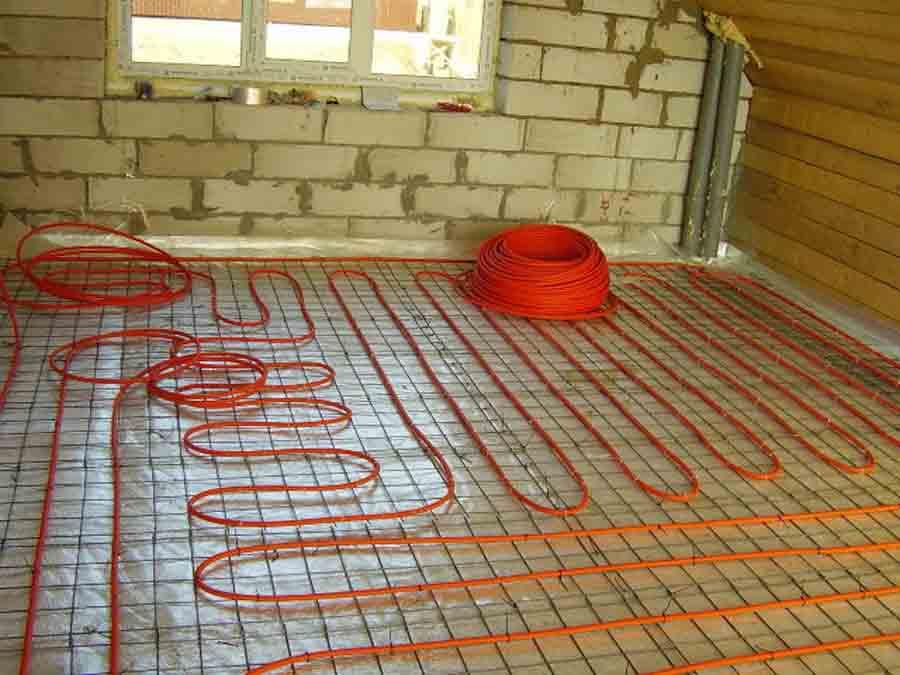 Ремонт частного дома теплый пол