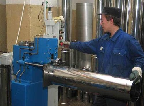 Производство нержавеющих дымоходов как провести дымоход через стену в бане