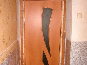 Двери мдф установка