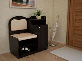 Популярные варианты скамеек с ящиками для прихожих