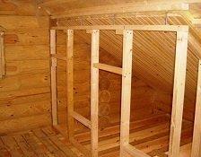 Как сделать перегородку внутри деревянного дома