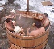 Купель для бани с подогревом