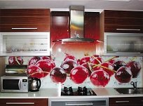 Как установить стеклянный кухонный фартук