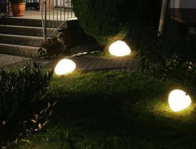 Светильники из искусственного камня для вашего сада