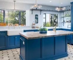 Свежесть и чистота: синие и голубые кухни в стиле минимализм
