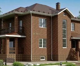 Проект дома с кирпичными стенами - классическая постройка домов